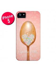 Coque Cuillère Love pour iPhone 5 et 5S - Lisa Argyropoulos