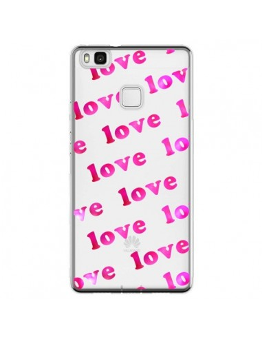 Coque Huawei P9 Lite Pink Love Rose...