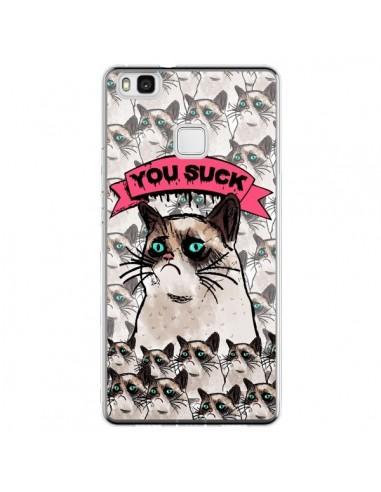 Coque Huawei P9 Lite Chat Grumpy Cat...