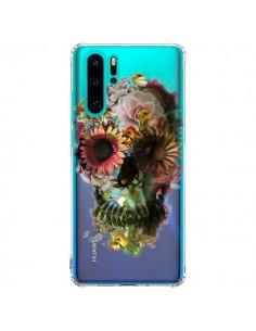Coque Huawei P30 Pro Skull Flower Tête de Mort Transparente - Ali Gulec