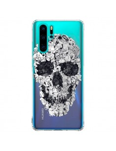 Coque Huawei P30 Pro Doodle Skull Dessin Tête de Mort Transparente - Ali Gulec