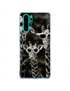 Coque Huawei P30 Pro Girafe Swag Lunettes Familiy Giraffe - Asano Yamazaki