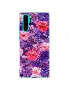 Coque Huawei P30 Pro Fleurs Violettes Flower Storm - Asano Yamazaki