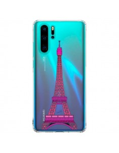 Coque Huawei P30 Pro Tour Eiffel Rose Paris Transparente - Asano Yamazaki