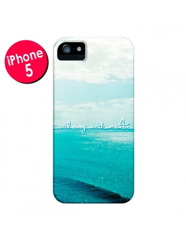 Coque Sail with me pour iPhone 5 et 5S - Lisa Argyropoulos