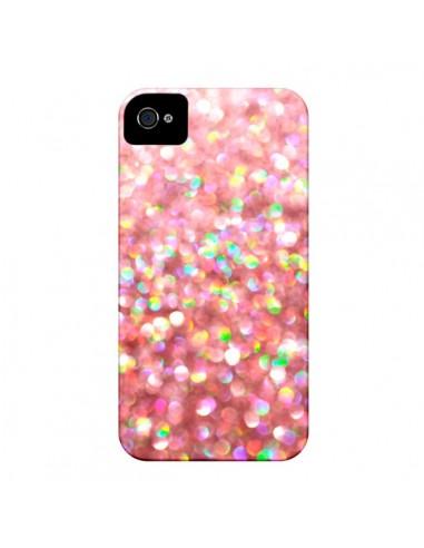 Coque Paillettes Pinkalicious pour iPhone 4 et 4S - Lisa Argyropoulos