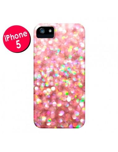 Coque Paillettes Pinkalicious pour iPhone 5 et 5S - Lisa Argyropoulos