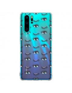 Coque Huawei P30 Pro Eyes Oeil Yeux Bleus Mosaïque Transparente - Léa Clément