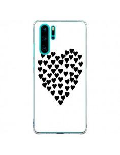 Coque Huawei P30 Pro Coeur en coeurs noirs - Project M