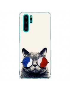Coque Huawei P30 Pro Chat à lunettes françaises - Gusto NYC