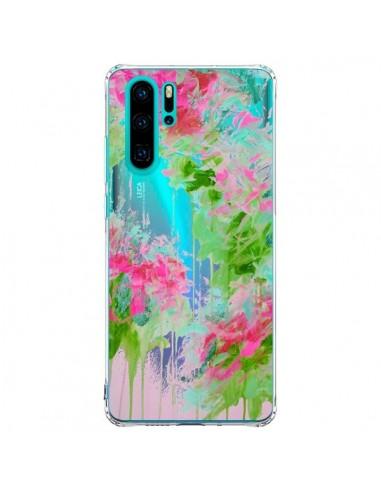 Coque Huawei P30 Pro Fleur Flower Rose Vert Transparente - Ebi Emporium