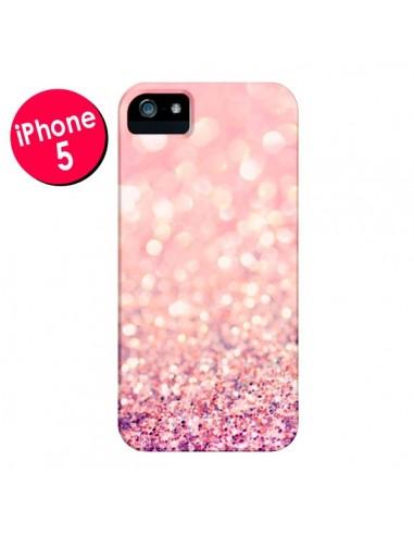 Coque Paillettes Blush pour iPhone 5 et 5S - Lisa Argyropoulos