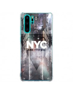 Coque Huawei P30 Pro I Love New York City Violet - Javier Martinez