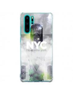 Coque Huawei P30 Pro I Love New York City Gris Vert - Javier Martinez