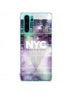 Coque Huawei P30 Pro I Love New York City Violet Vert - Javier Martinez