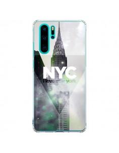 Coque Huawei P30 Pro I Love New York City Gris Violet Vert - Javier Martinez