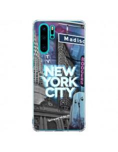 Coque Huawei P30 Pro New York City Buildings Bleu - Javier Martinez