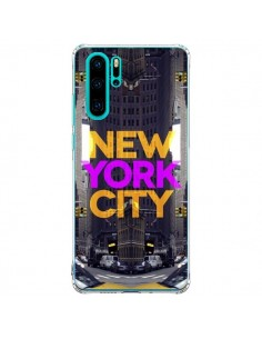 Coque Huawei P30 Pro New York City Orange Violet - Javier Martinez