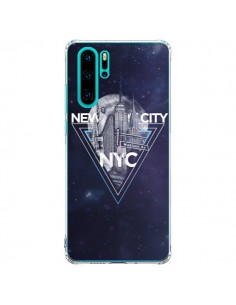 Coque Huawei P30 Pro New York City Triangle Bleu - Javier Martinez