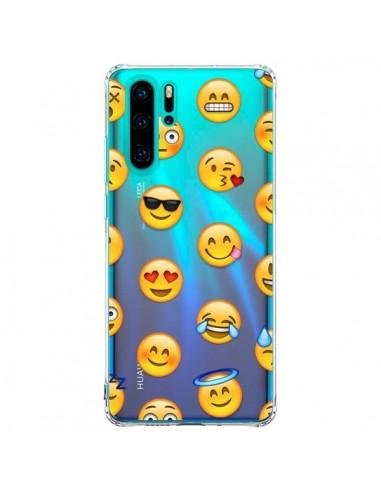 Coque Huawei P30 Pro Smiley Emoticone Emoji Transparente Laetitia