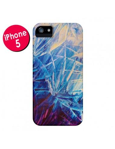 Coque Fleurs Violettes françaises pour iPhone 5 - Ebi Emporium