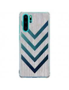 Coque Huawei P30 Pro Blue Arrow Wood Fleche Bois - LouJah