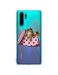 Coque Huawei P30 Pro Chaton Chat Kitten Boite Pois Transparente - Maryline Cazenave