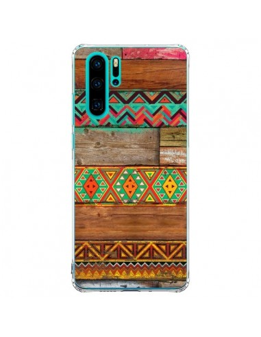 Coque Huawei P30 Pro Indian Wood Bois...