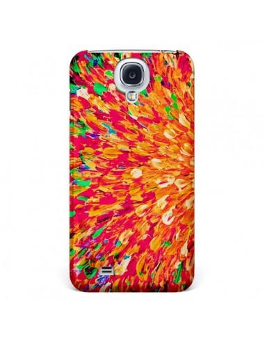 Coque Fleurs Oranges Neon Splash pour Galaxy S4 - Ebi Emporium