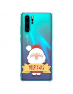 Coque Huawei P30 Pro Père Noël Merry Christmas transparente - Nico