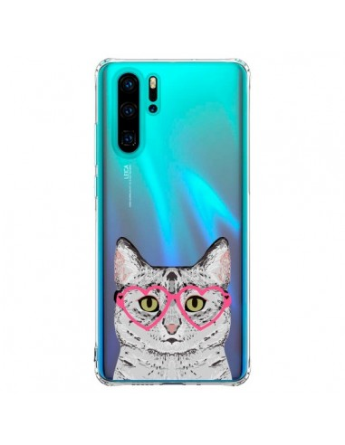 Coque Huawei P30 Pro Chat Gris...