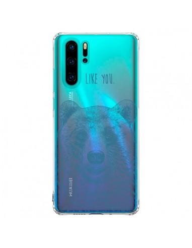 Coque Huawei P30 Pro I Love You Bear...
