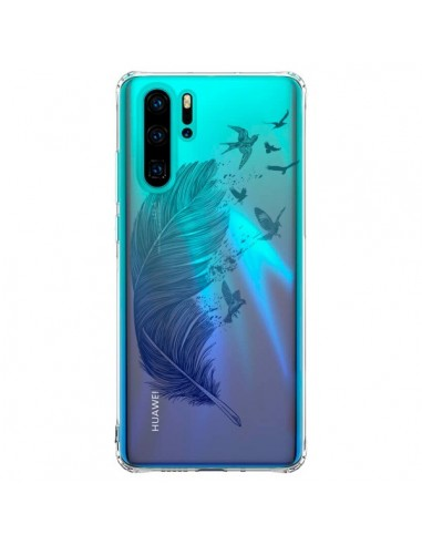 Coque Huawei P30 Pro Plume Feather...