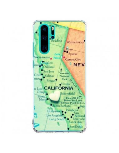 Coque Huawei P30 Pro Carte Map...