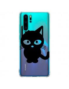 Coque Huawei P30 Pro Chat Noir Cat Transparente - Yohan B.