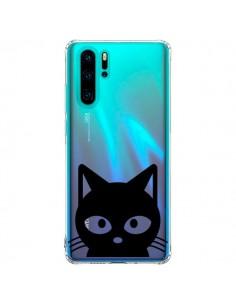 Coque Huawei P30 Pro Tête Chat Noir Cat Transparente - Yohan B.