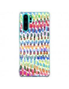 Coque Huawei P30 Pro Artsy Strokes Stripes Colorful - Ninola Design