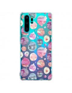 Coque Huawei P30 Pro Big Watery Dots Pink - Ninola Design