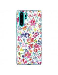 Coque Huawei P30 Pro Colorful Flowers Petals Blue - Ninola Design