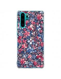 Coque Huawei P30 Pro Colorful Little Flowers Navy - Ninola Design