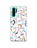Coque Huawei P30 Pro Curly and Zigzag Stripes White - Ninola Design