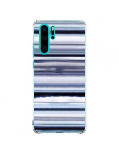 Coque Huawei P30 Pro Degrade Stripes Watercolor Navy - Ninola Design