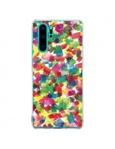 Coque Huawei P30 Pro Speckled Watercolor Blue - Ninola Design