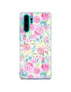 Coque Huawei P30 Pro Speckled Watercolor Pink - Ninola Design