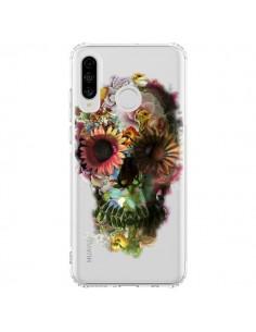 Coque Huawei P30 Lite Skull Flower Tête de Mort Transparente - Ali Gulec