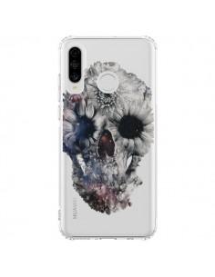 Coque Huawei P30 Lite Floral Skull Tête de Mort Transparente - Ali Gulec