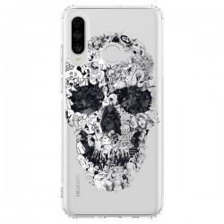 Coque Huawei P30 Lite Doodle Skull Dessin Tête de Mort Transparente - Ali Gulec