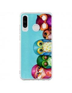 Coque Huawei P30 Lite Famille Chouettes - Annya Kai