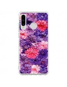 Coque Huawei P30 Lite Fleurs Violettes Flower Storm - Asano Yamazaki