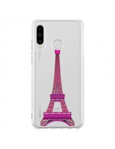 Coque Huawei P30 Lite Tour Eiffel Rose Paris Transparente - Asano Yamazaki
